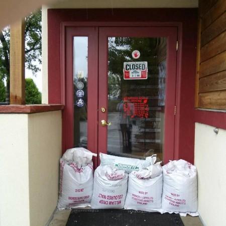 Left Hand Brewing Malt Bag Flood Protection